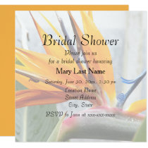 Bird of Paradise Floral Bridal Shower Invite