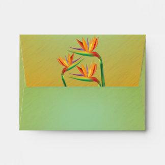 Bird of Paradise Floral Invitation Envelope