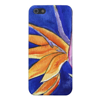 Bird of Paradise Flower Art Painting iPhone 4 Case
