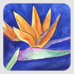 Bird of Paradise Flower Artwork Painting Sticker