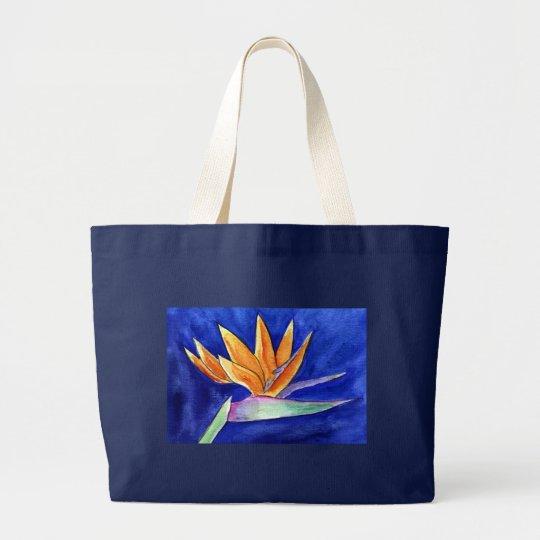 Bird of Paradise Flower Artwork Painting Tote Bag