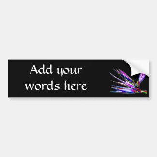 Bird of Paradise Flower (Colored Foil Effect) Bumper Sticker
