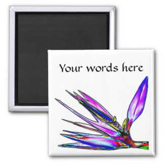 Bird of Paradise Flower (Colored Foil Effect) Magnet
