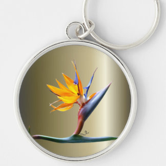 Bird of Paradise Flower Keychain