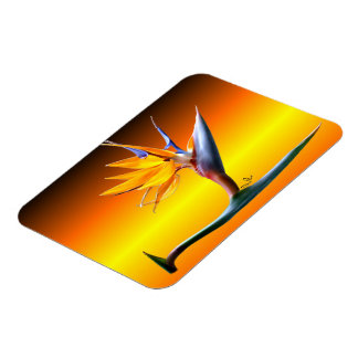 Bird of Paradise Flower Magnet