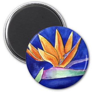 Bird of Paradise Flower Painting Art Magnet