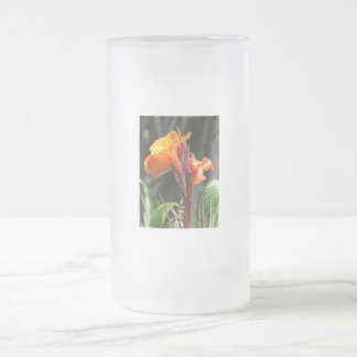 Bird of Paradise Flower Photograph Frosted Glass Beer Mug