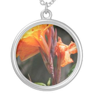 Bird of Paradise Flower Photograph Round Pendant Necklace