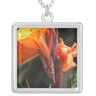 Bird of Paradise Flower Photograph Square Pendant Necklace
