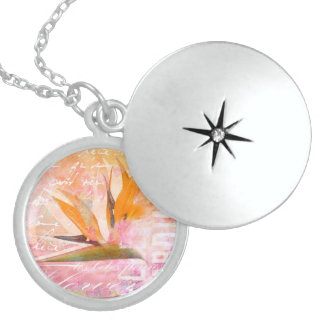 Bird of Paradise Flower Sterling Silver Necklace