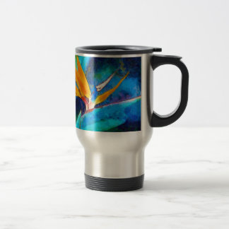 bird of paradise flower travel mug