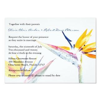 Bird of Paradise Flower Wedding Invitation