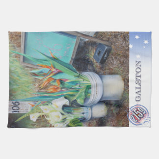 "Bird of Paradise Flowers: ""Honesty System"" Kitchen Towel"