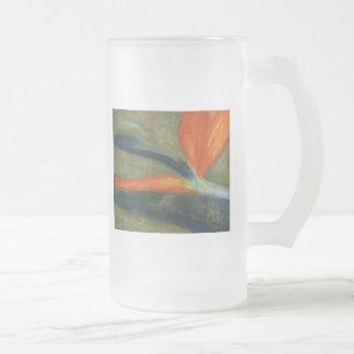 Bird of Paradise, Frosted Glass Mug