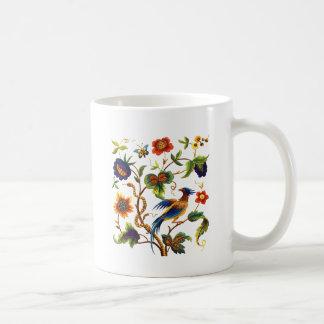Bird of Paradise Jacobean Embroidery Coffee Mug