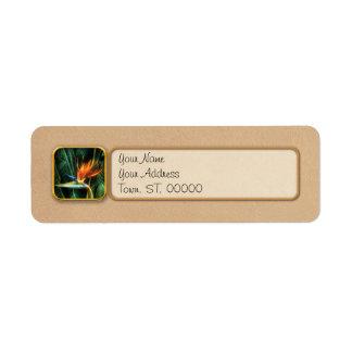 Bird of Paradise Custom Return Address Label