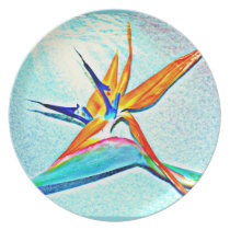 Bird of Paradise Melamine Plate