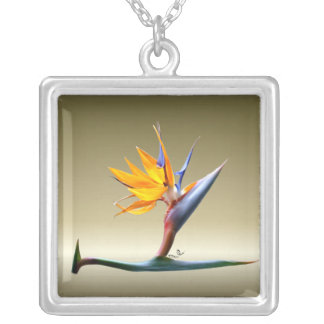 Bird of Paradise Necklace on Gold