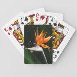 Bird of Paradise Orange Tropical Flower Poker Deck
