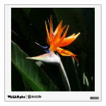 Bird of Paradise Orange Tropical Flower Wall Sticker