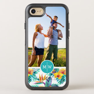 Bird Of Paradise & Orchid| Add Your Photo & Monogr OtterBox Symmetry iPhone 8/7 Case