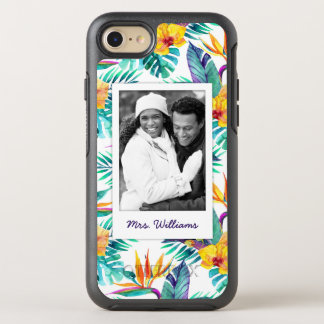Bird Of Paradise & Orchid | Add Your Photo & Name OtterBox Symmetry iPhone 7 Case