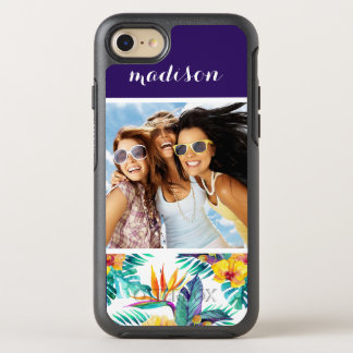 Bird Of Paradise & Orchid | Add Your Photo & Name OtterBox Symmetry iPhone 8/7 Case