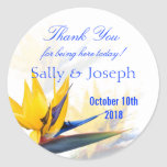 Bird of Paradise Personalized Wedding Favor Label Stickers