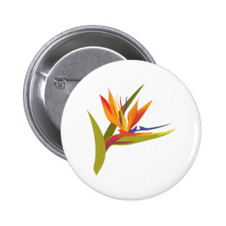 BIRD OF PARADISE PINBACK BUTTON