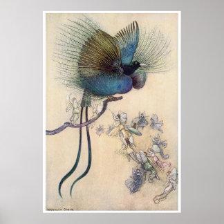 Bird of Paradise Print Warwick Goble
