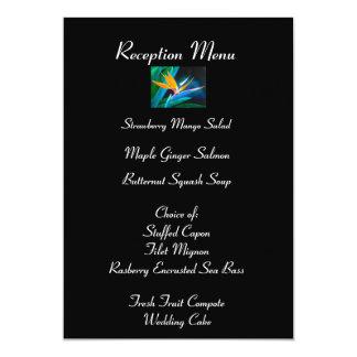 Bird of Paradise Reception Menu Card