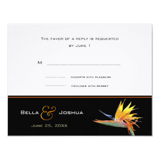 Bird of Paradise RSVP 4.25x5.5 Paper Invitation Card