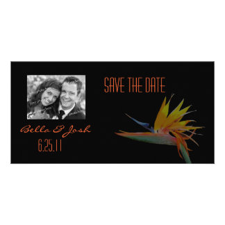 Bird of Paradise Save the Date Photo Card