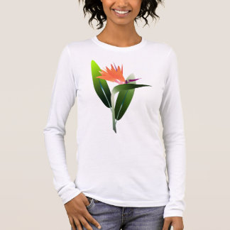 Bird of Paradise Silk Screen Long Sleeve T-Shirt