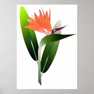 Bird of Paradise Silk Screen Poster