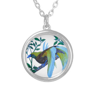 Bird of Paradise Silver Plated Necklace