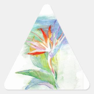 Bird of Paradise Triangle Stickers