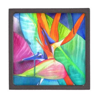 Bird of Paradise Strelitzia flower tropical art Premium Keepsake Boxes