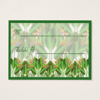 Bird-of-Paradise Table Number Place Cards