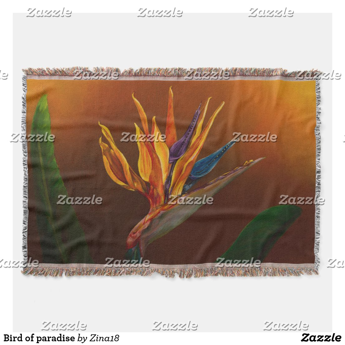 Bird of paradise throw