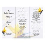 Bird of Paradise Tri-Fold Wedding Program Template Custom Letterhead