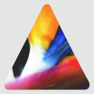 Bird of Paradise Triangle Sticker