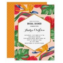 Bird of Paradise Tropical Bridal Shower Invitation