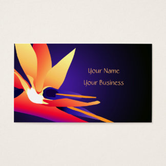Bird-of-Paradise Tropical Floral Business Card