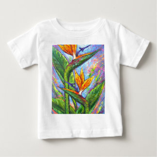 Bird Of Paradise Tropical Flower Painting - Multi Baby T-Shirt