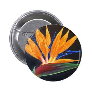 Bird Of Paradise Tropical Flower Painting - Multi Pin