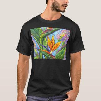 Bird Of Paradise Tropical Flower Painting - Multi T-Shirt