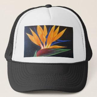 Bird Of Paradise Tropical Flower Painting - Multi Trucker Hat