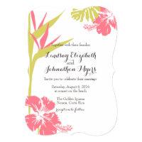 Bird of Paradise Tropical Flower Wedding Invite