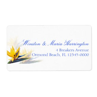 Bird of Paradise Tropical Skinny Address Label